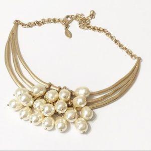 Chico's • Sammy Pearl Bib Necklace